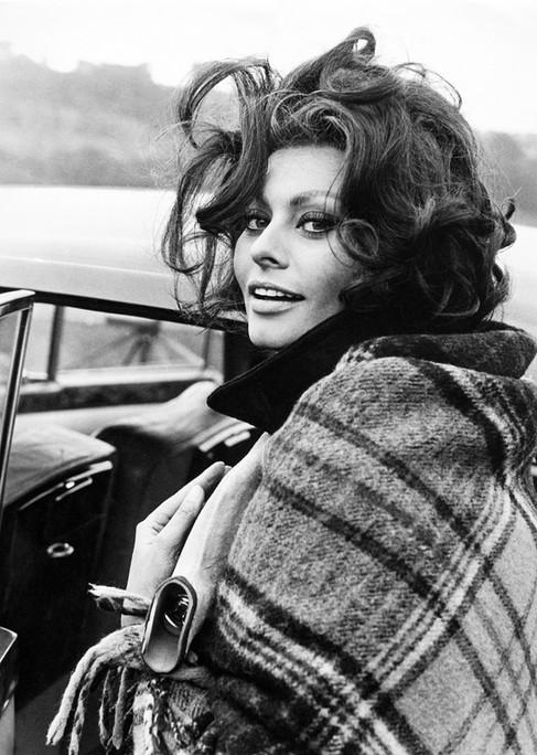 Kunstfoto op plexiglas  Sophia Loren