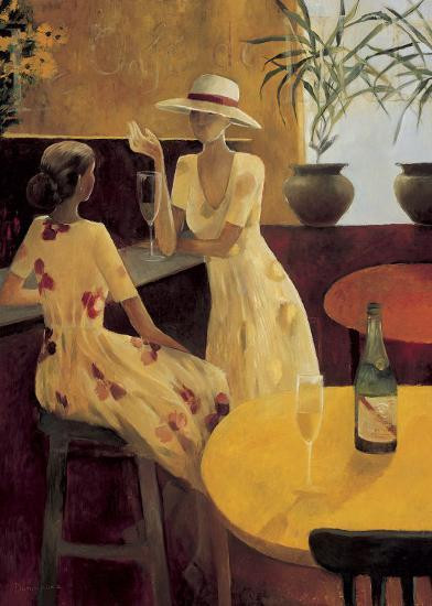 DOMINGUEZ, LADIES CHATTING 50X70