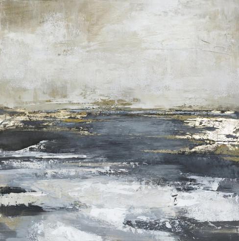 Schilderij Freja Blue Bay 118x118cm