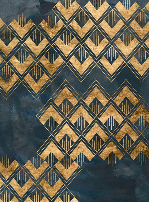 172023Z Deco Pattern in Blue II Resizable, in stock