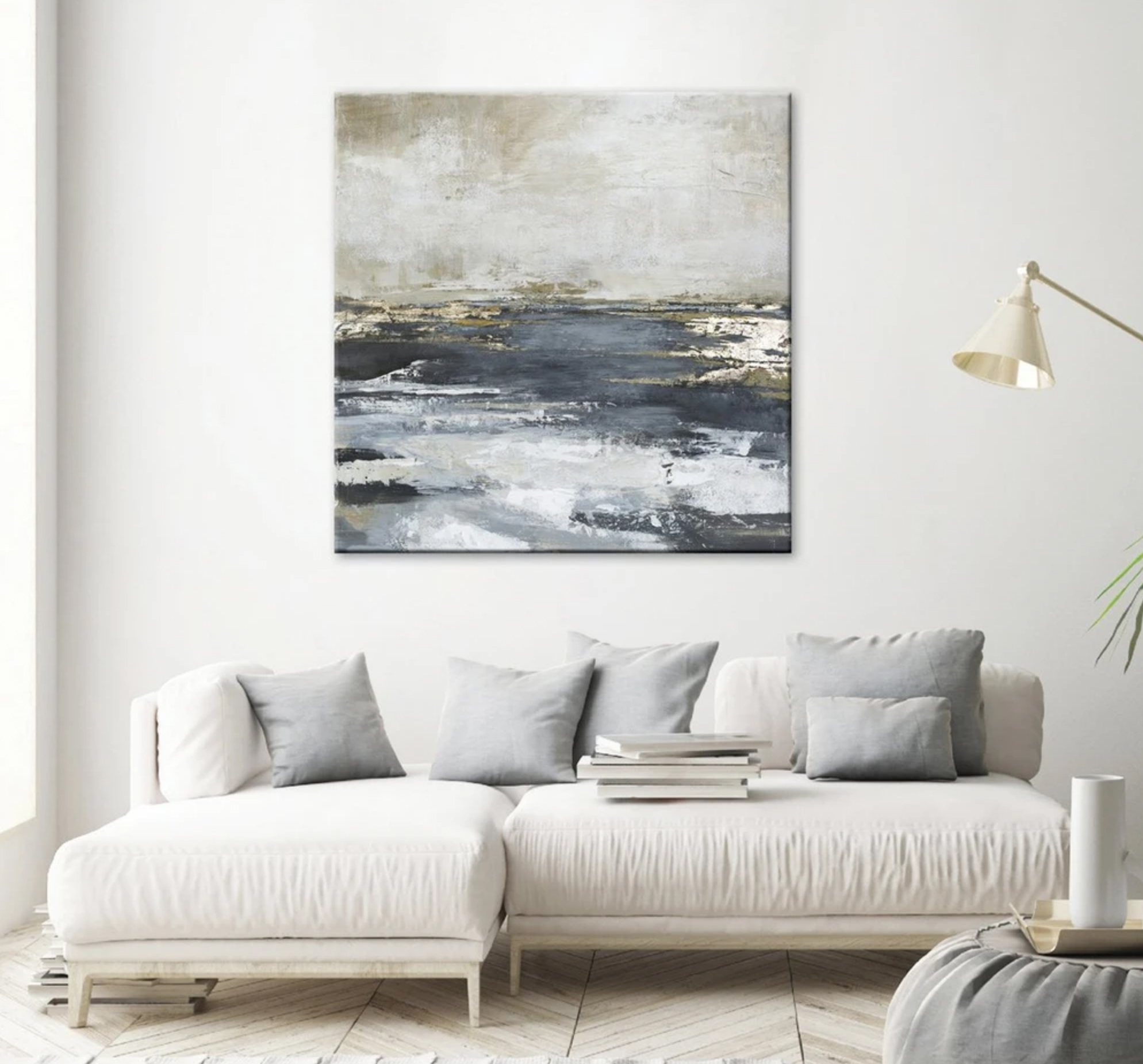 Schilderij Freja Blue Bay 118x118