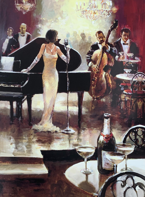 BRENT HEIGHTON, JAZZ NIGHT 60X80