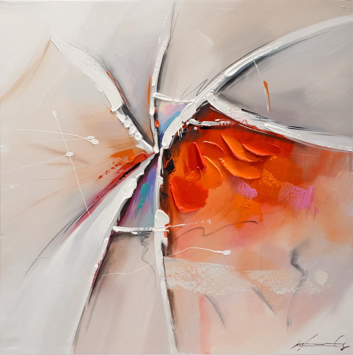 Schilderij Abstract Spicy Red