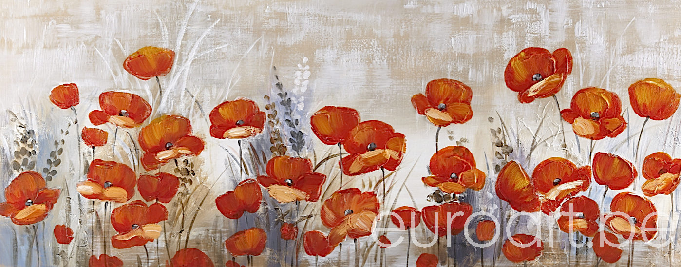 Schilderij  'Dreamy Poppies'