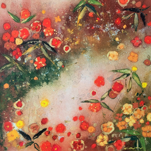 ALEAH KOURY, GARDENS IN THE MIST XI 70X70