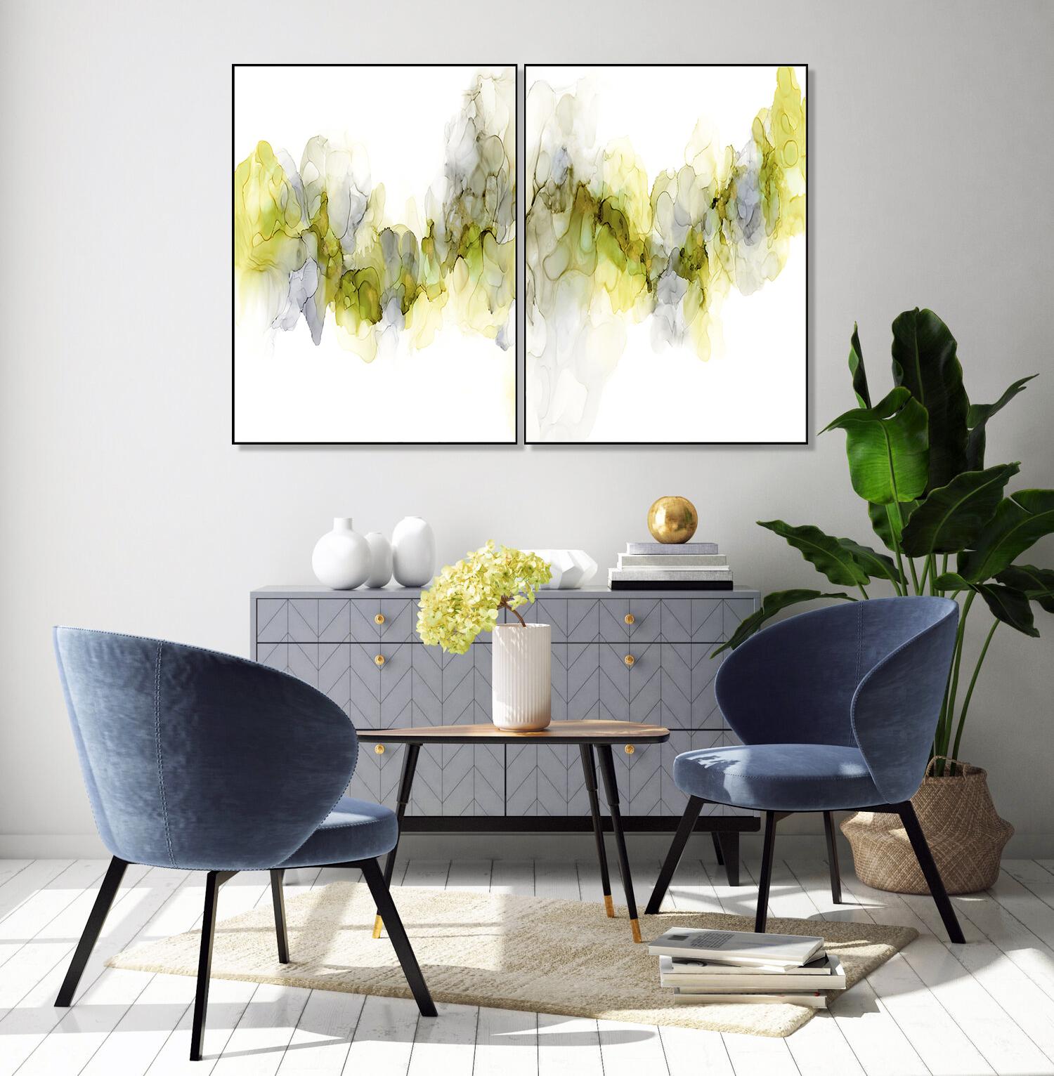 Abstracte art-prints Duo Emerging Mist