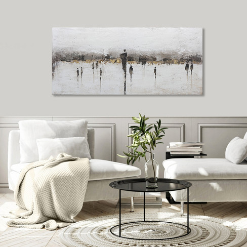 407800 Modern Taupe Silhouettes 80x180cm