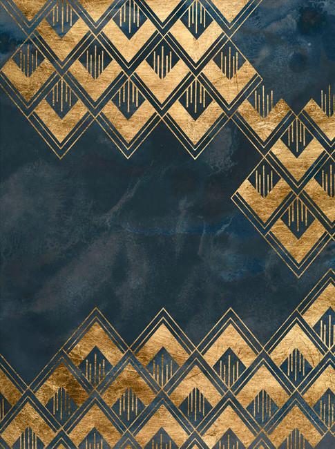 172024Z Deco Pattern in Blue III Resizable, in stock