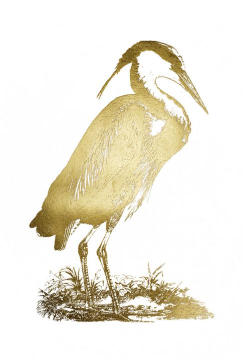 Gold Foil Heron I John Selby 75x110