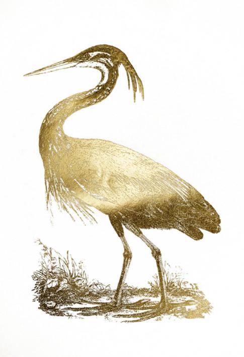 Gold Foil Heron II John Selby 75x110