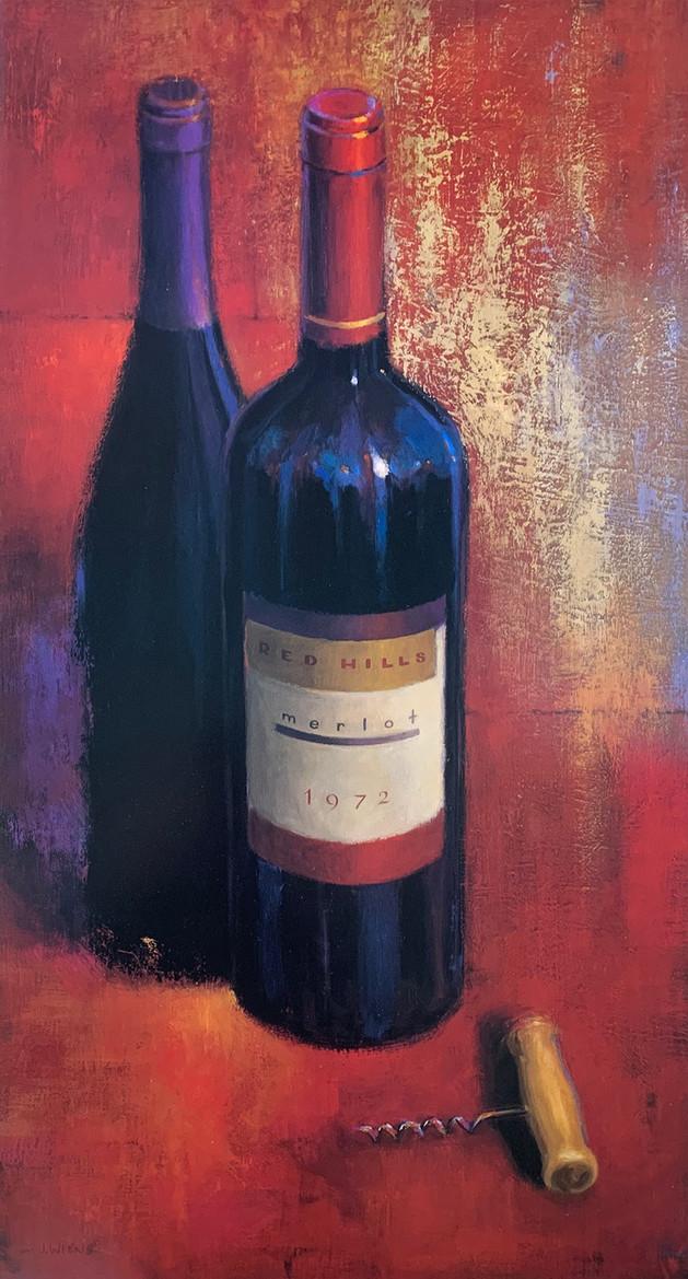 Merlot Abstract, James Wiens 40X80