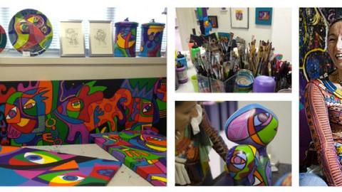 Euro-Art bezoekt atelier Marianne Y.Naerebout