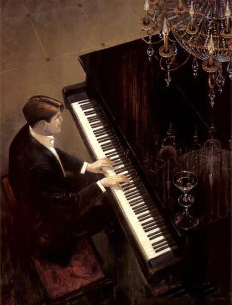 BRENT LYNCH, JAZZ DUET PIANO  60X80