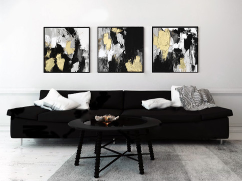Trio Neutral Gold Collage