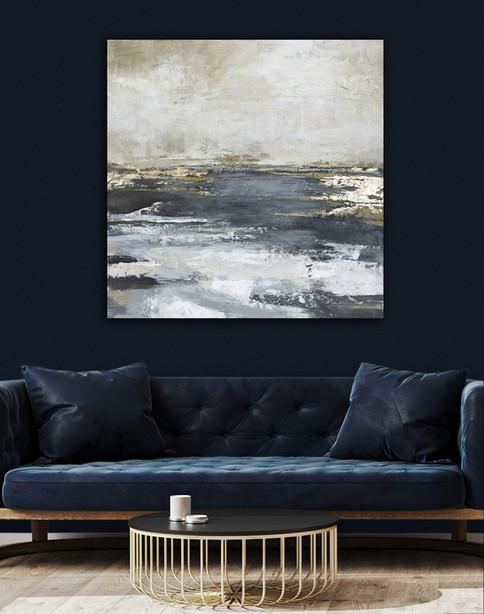 Schilderijen met gouden accenten