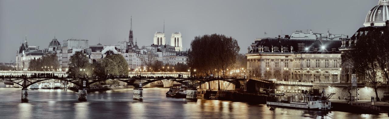 Kunstfoto op plexiglas Paris by night