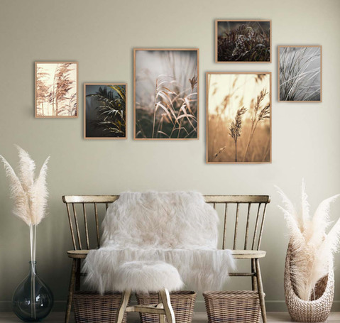 Collage kaders of een groot schilderij?