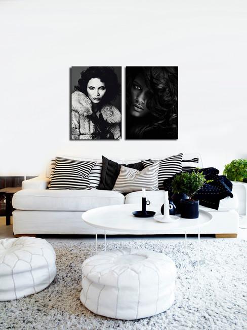 Duo art foto's op plexiglas 