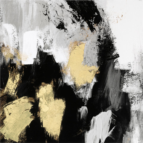 Neutral Gold Collage I 80x80, in stock