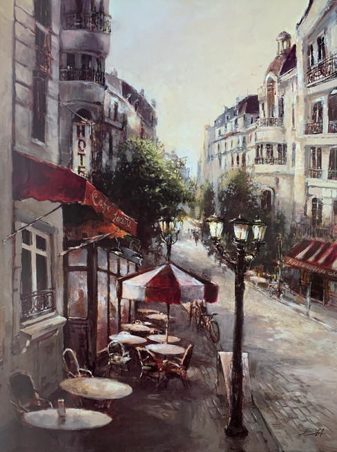 B. HEIGHTON, PROMENADE CAFE 60X80