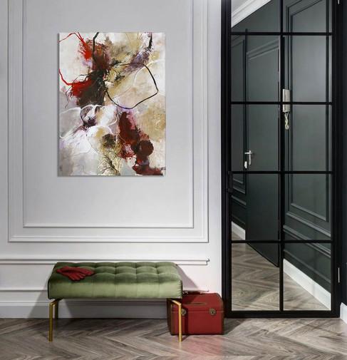 Schilderij Flower Fall 90x120