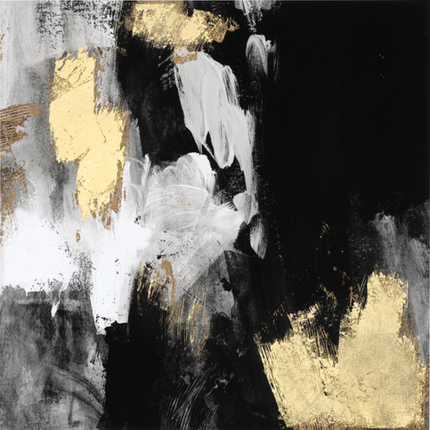 Neutral Gold Collage III 80X80, in stock