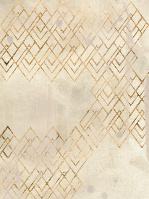 172029Z Deco Pattern in Cream IV Resizable, in stock