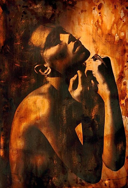 Kunst foto op plexi Caramel Lust