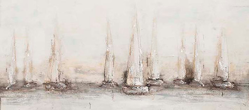 Schilderij 407779 Port of Twiske 80x180