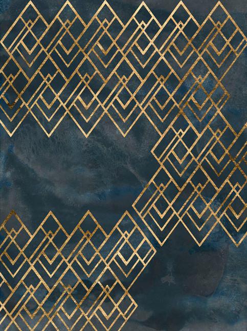 172025Z Deco Pattern in Blue IV