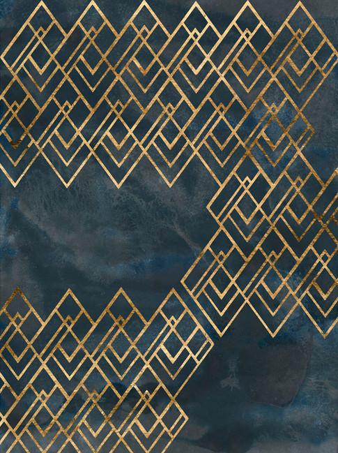 172025Z Deco Pattern in Blue IV Resizable, in stock