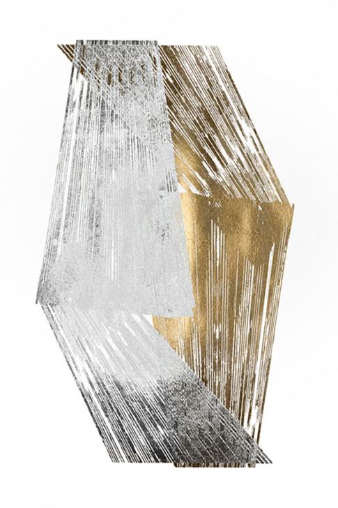 Gold & Silver Foil Stripes 2 Jennifer Goldberger 75x110