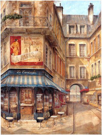 Fabrice de Villeneuve, CAFE BLEU 60X80