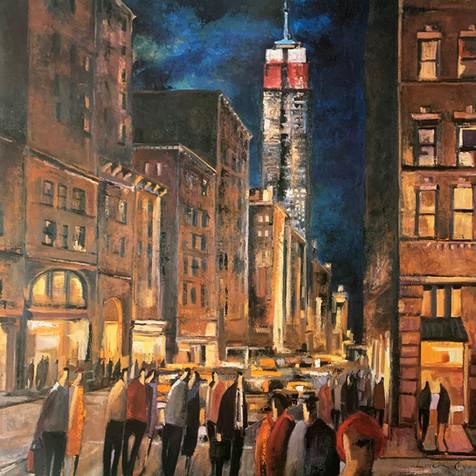DIDDIER LOURENCO, NEW YORK NIGHT 80X80
