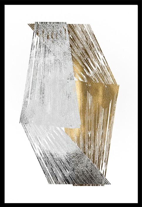 Gold & Silver Foil Stripes 2 Jennifer Goldberger  75x110, in stock