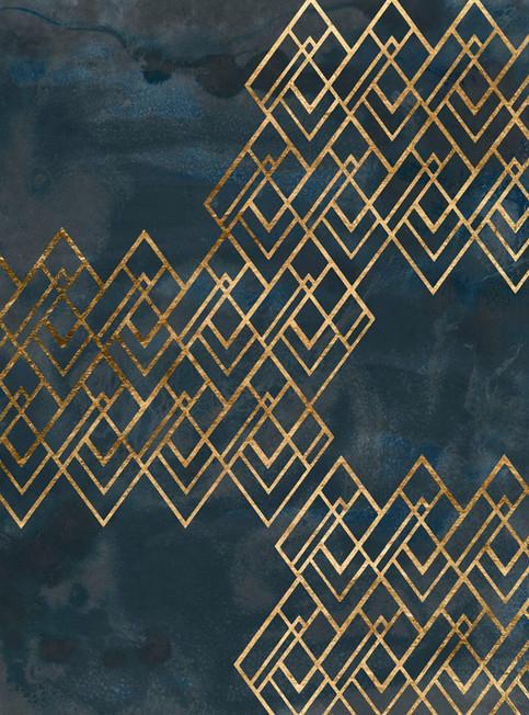 172022Z Deco Pattern in Blue I