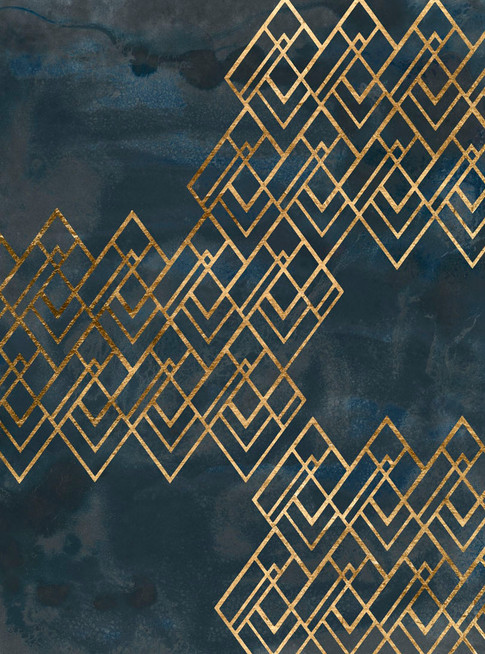 172022Z Deco Pattern in Blue I Resizable, in stock