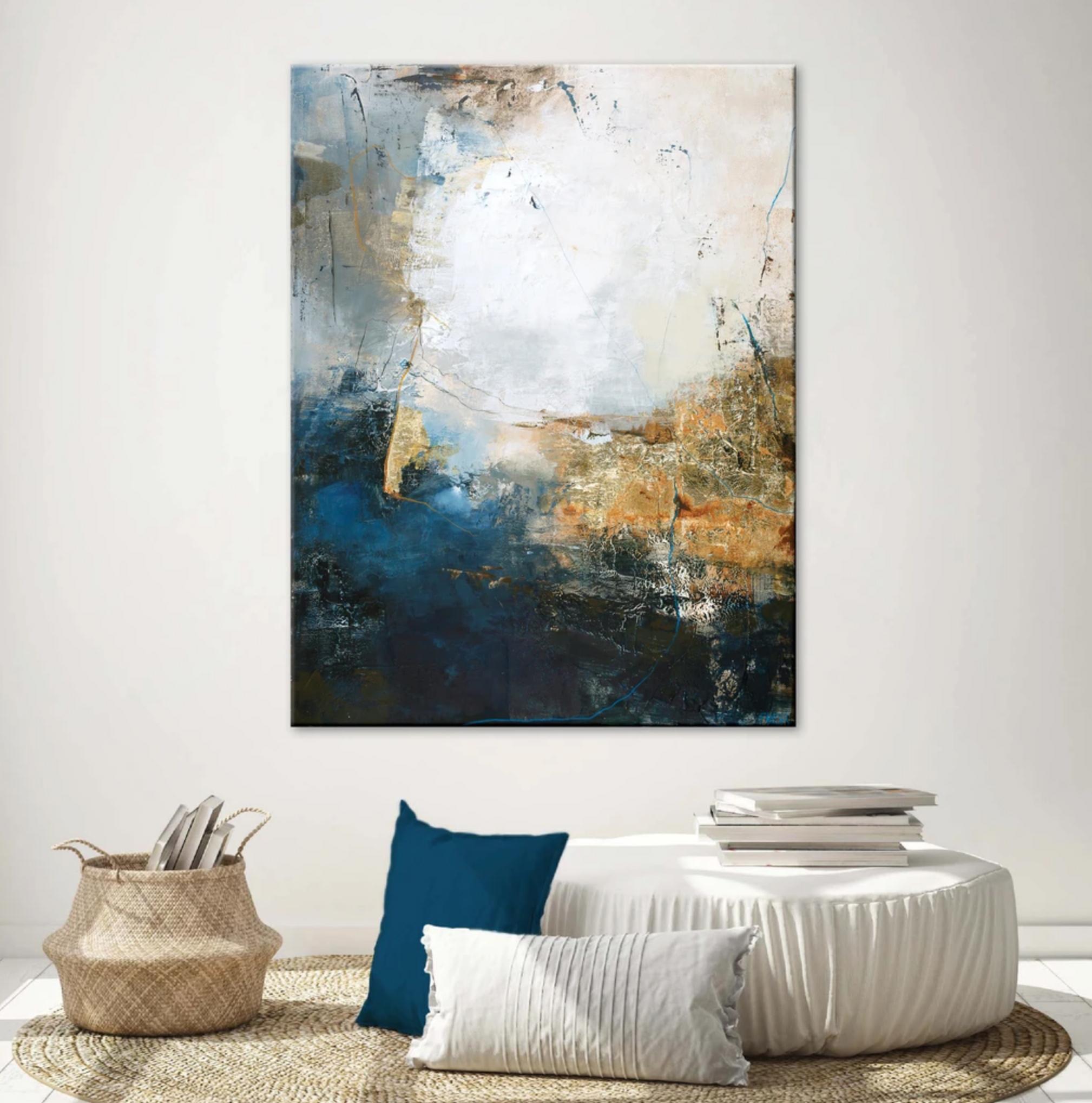 Schilderij White Vission 90x120