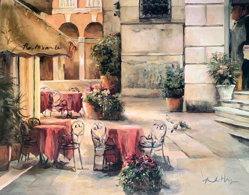MARILYN HAGEMAN, PLAZA CAFE 70X50