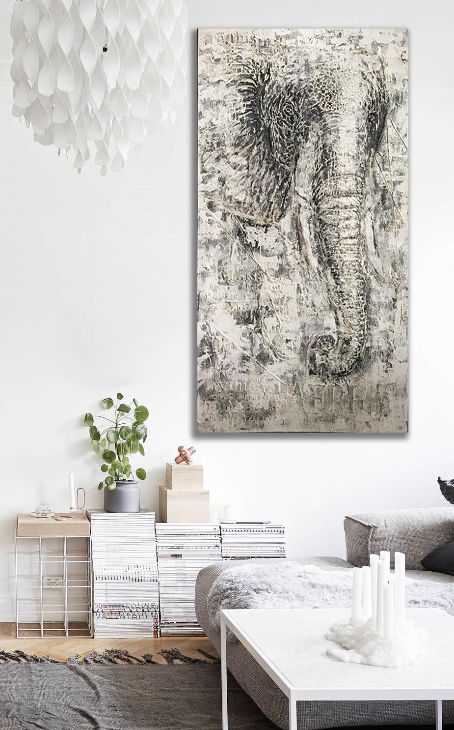XXL Schilderij Olifant
