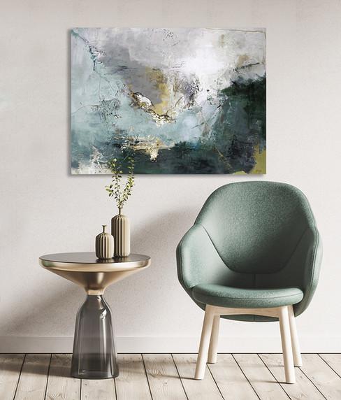 Schilderij Arctic Green 120x90cm