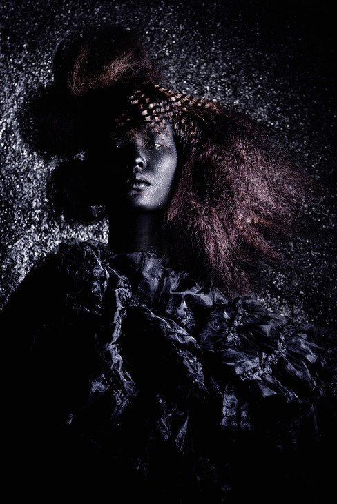Kunst foto op plexiglas  Black beauty, Ivo Rikkert