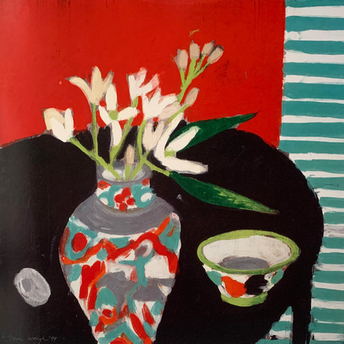 LOUISE WAUGH,  JAPANESE VASE 50X50