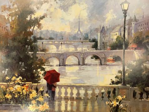MARILYN SIMANDLE, PARIS MIST 60Xx80