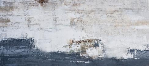 Schilderij       407732    Teal Meets Charchoal concrete II  60x150