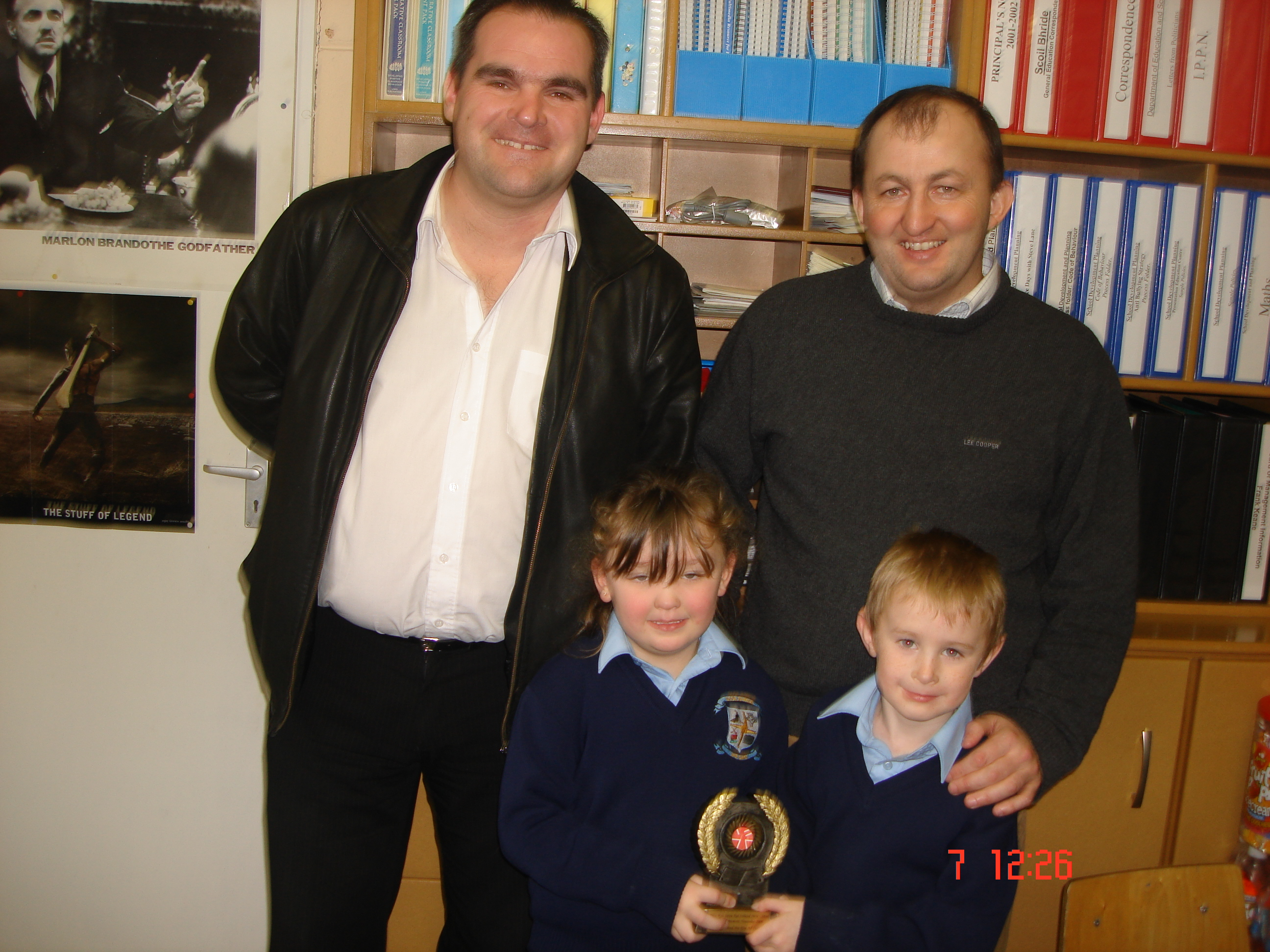 Mark O'Reilly, Stephanie O'Neill, Mr. Keane and Mr. Paul McCavera our Education Welfare Officer with