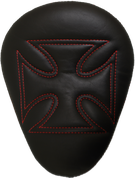 """13"""" ELIMINATOR SOLO SEAT BLACK CROSS WITH RED STITCHES"""