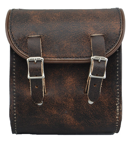 UNIVERSAL LEATHER SISSY BAR BAG - RUSTIC BROWN