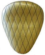 "13"" SOLO SEAT GOLD METAL FLAKE DIAMOND TUK"
