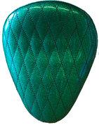"""13"""" SOLO SEAT GREEN METAL FLAKE DIAMOND TUK"""